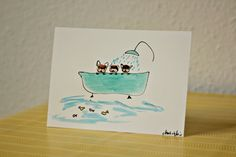 French bulldog painting, handmade, unique, made with paper and fingerprint art technique /french bulldogs having bath (small format) by BoubouleArt on Etsy