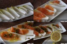 Endivias con salmón ahumado. Pasos