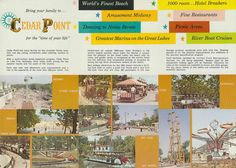 Cedar Point 1963 want in my collection Cedar Point Ohio, Marblehead Ohio, Cleveland Rocks, County Seat, Time Of Your Life, Roller Coasters, Lake Erie, North Coast, Picnic Area