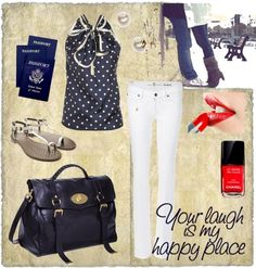 """Your laugh is my happy place."" by nikagantar on Polyvore"