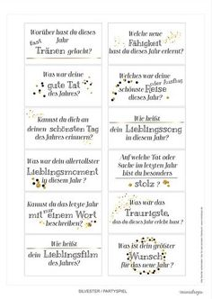 silvester-party game-printable jahresrueckblick Source by Party Silvester, Diy Silvester, Christmas And New Year, Christmas Fun, Xmas, Annual Review, Nouvel An, New Years Eve Party, Party Printables