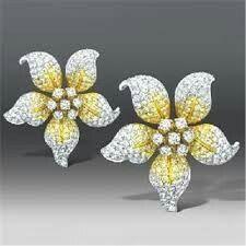 Butani diamond flower earrings