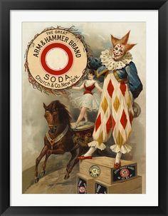 Clown,+Horse,+Acrobat+and+Arm+&+Hammer+Brand+Soda+at+FramedArt.com