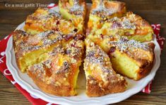 Prajitura cu caise si cirese - Retete Timea Cake Videos, French Toast, Deserts, Breakfast, Recipes, Food, Cakes, Pie, Morning Coffee