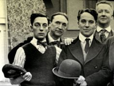 Buster Keaton and Charlie Chaplin.