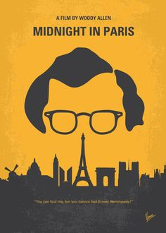 No312 My Midnight in Paris minimal movie poster Art Print