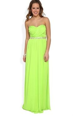 Deb Shops Strapless Long #Prom #Dress with Ruching and Stone Waist and Open Back, this in the coral is my prom dress