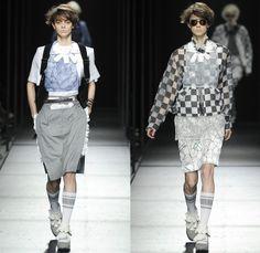 FACETASM 2014 Spring Summer Womens Runway Collection - Mercedes-Benz Fashion Week Tokyo Japan - Hiromichi Ochiai Designer Empathy - Black De...
