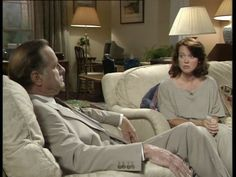 Moira Brooker and Geoffrey Palmer in As Time Goes By Judi Dench, As Time Goes By, Tv Series, Comedy, Living Room, Sleeves, Home Living Room, Comedy Theater
