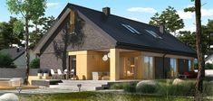 Proiect de casa cu mezanin si arhitectura originala Home Fashion, Cabin, How To Plan, House Styles, Outdoor Decor, Modern, Home Decor, Trendy Tree, Decoration Home
