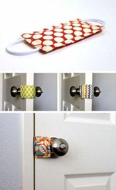 Sew this for door knob of nursery