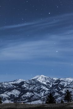 ❦  The Stars and The Mountains, View From Home in Bozeman Montana