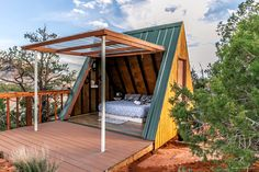 Romantic A-Frame Cabin Rental near Zion National Park and Hurricane, Utah A Frame Cabin, A Frame House, Zion National Park, National Parks, Bungalow, Tiny House Cabin, Glamping, Tent Camping, Backpacking Tent