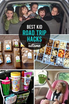 Best hacks for road trips for kids! Things to do, ways to stay organized, fun food, and more!