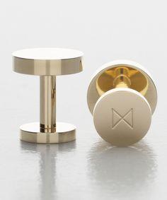 Polished brass cufflinks für Sie hier vom Gentlemansclub gepinnt . . . - schauen Sie auch mal im Club vorbei - www.thegentlemanclub.de
