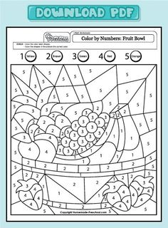 scheda di matematica con disegnoFun and Interactive Preschool Worksheets