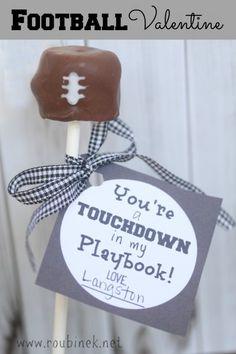 adorable football valentines ... love this idea