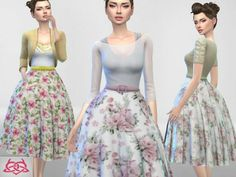 The Sims Resource: Vintage Basic skirt recolor 2 by Colores Urbanos • Sims 4 Downloads