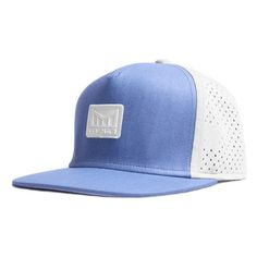 Men's Melin 'The Nomad' Split Fit Snapback Baseball Cap (172.260 COP) ❤ liked on Polyvore featuring men's fashion, men's accessories, men's hats, blue, mens caps, mens snapback caps, mens snapbacks, mens hats and mens ball caps
