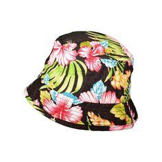 fa6d5491101 Wholesale City Hunter Flower Bucket Hats (Black) - 22228 ❤ liked on Polyvore