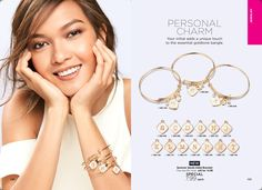 Your initial adds a unique touch to the essential goldtone bangle. A goldtone wire bracelet with initial, disc, rhinestone and quartz bead charms. Initial charm has a white pearlized background with a goldtone initial. On sale for $7.99! #Avon #AvonRep #PersonalCharm #Jewelry #Bangle #Gold #Fashion #Style #Summer #Sale  https://www.avon.com/product/summer-sands-initial-bracelet-58638?rep=maureenmayer