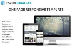 Check out Psyrix - One Page HTML Template by Psyrix on Creative Market
