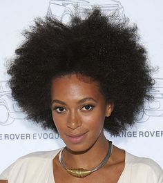 In the Heights  At a Range Rover event, Solange fluffed her chemical-free hair up to sexy new heights. Essence.com
