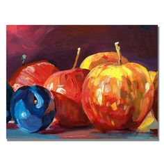 @Overstock - David Lloyd Glover 'Ripe Plums and Apples' Canvas Art - Artist: David Lloyd GloverTitle: 'Ripe Plums and Apples' canvas artProduct type: Giclee, gallery wrapped  http://www.overstock.com/Home-Garden/David-Lloyd-Glover-Ripe-Plums-and-Apples-Canvas-Art/8341652/product.html?CID=214117 $47.03