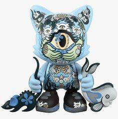 Junko Mizuno Azure Ailurophile 8-inch vinyl SuperJanky by Superplastic PREORDER ships Dec 2020 Vinyl Toys, Vinyl Art, Manga Artist, Toy Collector, Sideshow Collectibles, Designer Toys, Two By Two, Disney Characters, Cats