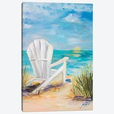 Acrylic Painting Canvas, Canvas Artwork, Watercolor Paintings, Beach Paintings, Watercolors, Beach Scene Painting, Summer Painting, Chalk Pastel Art, Chalk Pastels