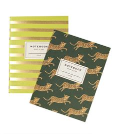Catbird::WHAT'S NEW: home, gifts & beauty::Pair of Safari Notebooks