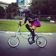 """bromptonbcn: """" The Powerpuff Girl spotted in BWC 2015 Taiwan."""""""