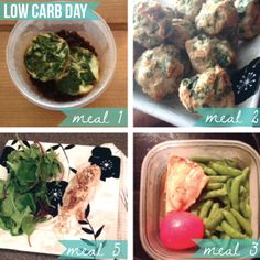 Low Carb day on Jamie Eason's Live Fit Challenge! Jamie Eason 12 Week, Jamie Eason Live Fit, Clean Eating, Healthy Eating, Healthy Food, Carb Day, Ketogenic Diet Weight Loss, Workout Diet Plan, Bodybuilding Recipes