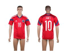 2014 World Cup Colombia Football Shirts Away NO.10 James