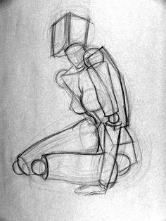 Figure Drawing Professor: The Geometric Figure Human Anatomy Drawing, Human Figure Drawing, Figure Sketching, Figure Drawing Reference, Gesture Drawing, Body Drawing, Anatomy Art, Drawing Poses, Art Reference Poses