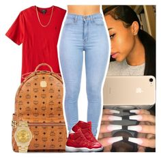 """""""Untitled #1371"""" by msixo ❤ liked on Polyvore featuring MCM and Rolex"""