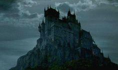More from the DRACULA with a mostly authentic location, later augmented by Whitlock with additional spires, turrets and extensions and of course that sky. Rene Char, Dracula Castle, Gothic Castle, Wizards Of Waverly Place, American Gothic, Kingdom Come, Matte Painting, Environmental Art, Ghost Stories