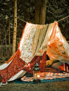 Go camping this summer and create your own outdoor getaway!