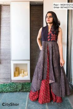 This might be the most awesomely perfect warm-weather dress I've ever seen. Pakistani Dresses, Indian Dresses, Indian Outfits, Kurta Designs, Blouse Designs, Casual Dresses, Fashion Dresses, Girls Dresses, Lehenga