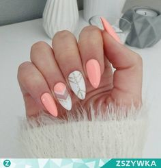Stunning Designs for Almond Nails You Won't Resist; almond nails long or s… Stunning Designs for Almond Nails You Won't Resist; almond nails long or s… Fall Nail Designs, Acrylic Nail Designs, Matte Nails, My Nails, Fall Nails, Spring Nails, Cute Nails For Spring, Summer Stiletto Nails, Nail Summer