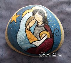 Painted Rock Ideas Ideas that will inspire you to start creating! Don't be intimidated by all the rocks you see. Rock Painting ideas are perfect for beginners! Pebble Painting, Tole Painting, Pebble Art, Stone Crafts, Rock Crafts, Christmas Rock, Christmas Crafts, Rock And Pebbles, Nativity Crafts