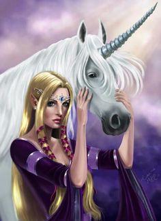 """The Elf & the Unicorn"" by shantalla"