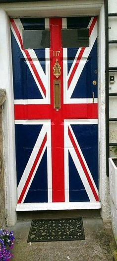 British 'Union Jack' front door in Bath, United Kingdom. - by Ian Redding