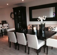 50 Inspiring Dinning Room Furniture Decor Ideas - Home Decoration Inspiration, Room Inspiration, Decor Ideas, Decorating Ideas, Creative Inspiration, Wall Ideas, Dining Room Design, Dining Area, Dining Rooms