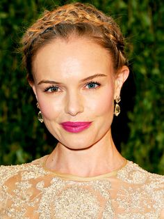 Stars Hairdos on the Red Carpet : Milk Maid Braids (Kate Bosworth)