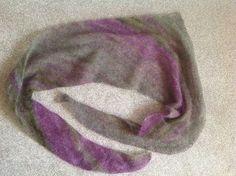 'fluff' shawl scarf knit in Rowan kidsilk haze #knitting