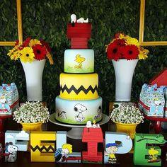 """""""Que festa linda do Snoopy que vi no @loucaporfestas❤❤❤ Decor por @facafesta  Bolo @artedaka #festejandoemcasa #snoopyfestejandoemcasa #festasnoopy…"""""""