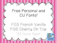 The First Grade Scoop: Currently March and {FREE!} Fonts by Yours Truly!