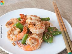 Easy & luxurious recipe for stir-fried prawns (shrimps) and bell peppers in XO sauce.