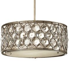 Lucia Drum Pendant by Feiss